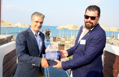 Nikos Vlassiadis, General Manager of the Creta Maris Beach Resort and Vasilis Zisimopoulos, CEO and Founder of Costa Nostrum Ltd.