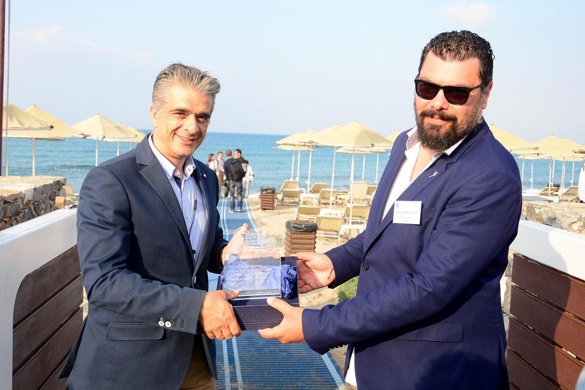 Nikos Vlassiadis, General Manager of the Creta Maris Beach Resort and Vasilis Zisimopoulos, CEO and Founder of Costa Nostrum Ltd.
