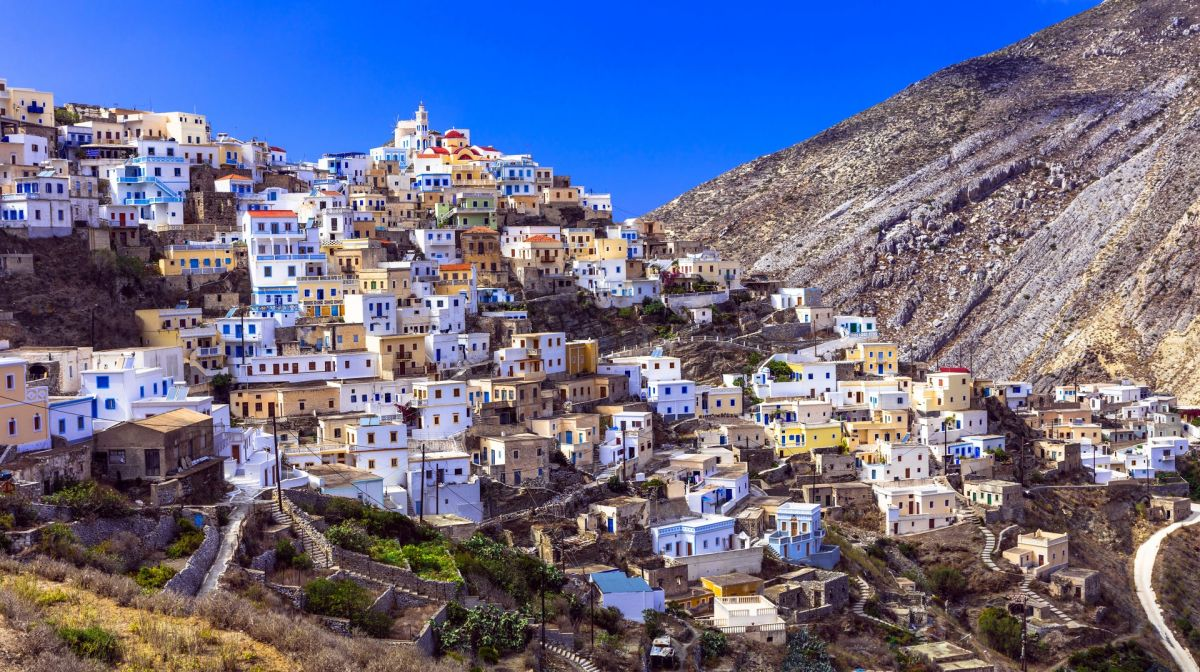 Mountain village Olymbos on Karpathos. Photo source: Discovergreece.com