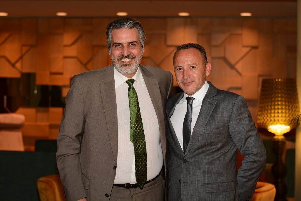 Zeus International Vice President and CFO Manousos Tsouchlarakis and CEO Haris Siganos.