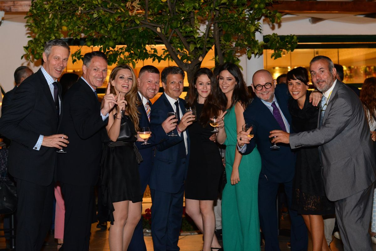 Executives of Wyndham Hotel Group and Zeus International celebrating the grand opening of the Dolce Attica Riviera.
