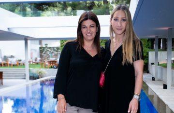 Bluegr Hotels & Resorts Marketing Communications Manager Katerina Mamidaki and Estee Lauder Greece PR & Consumer Engagement Coordinator Iro Vaoutsi. Photo: Life Gallery Athens / Panoulis Photography