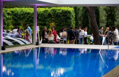 The Life Gallery Athens celebrated the opening of its garden and two pools with a big party. Photo: Life Gallery Athens / Panoulis Photography