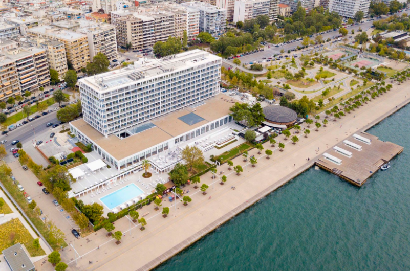The Makedonia Palace hotel.