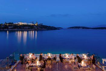 """La-Bouilabaisse"" restaurant, Minos Beach Art Hotel."