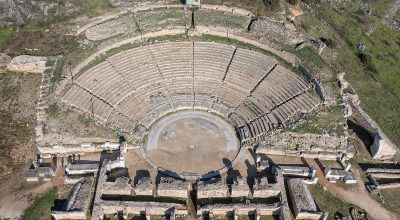Archaeological Site of Philippi: The Theater. Photo Source: https://whc.unesco.org © Hellenic Ministry of Culture and Sports / Achilleas Savvopoulos