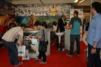 The stand of the National Tourism Organization of Serbia at the 2nd Greek Travel Show.