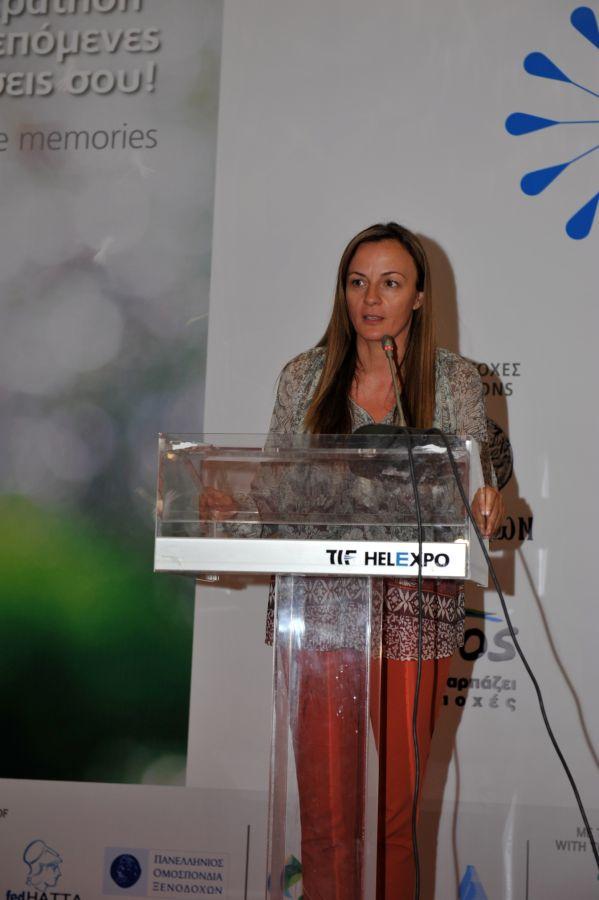 Η εκπρόσωπος του ΕΟΤ Σερβίας και υπεύθυνη για την Ελληνική Αγορά κυρία Tamara Raskovic απευθύνει χαιρετισμό.