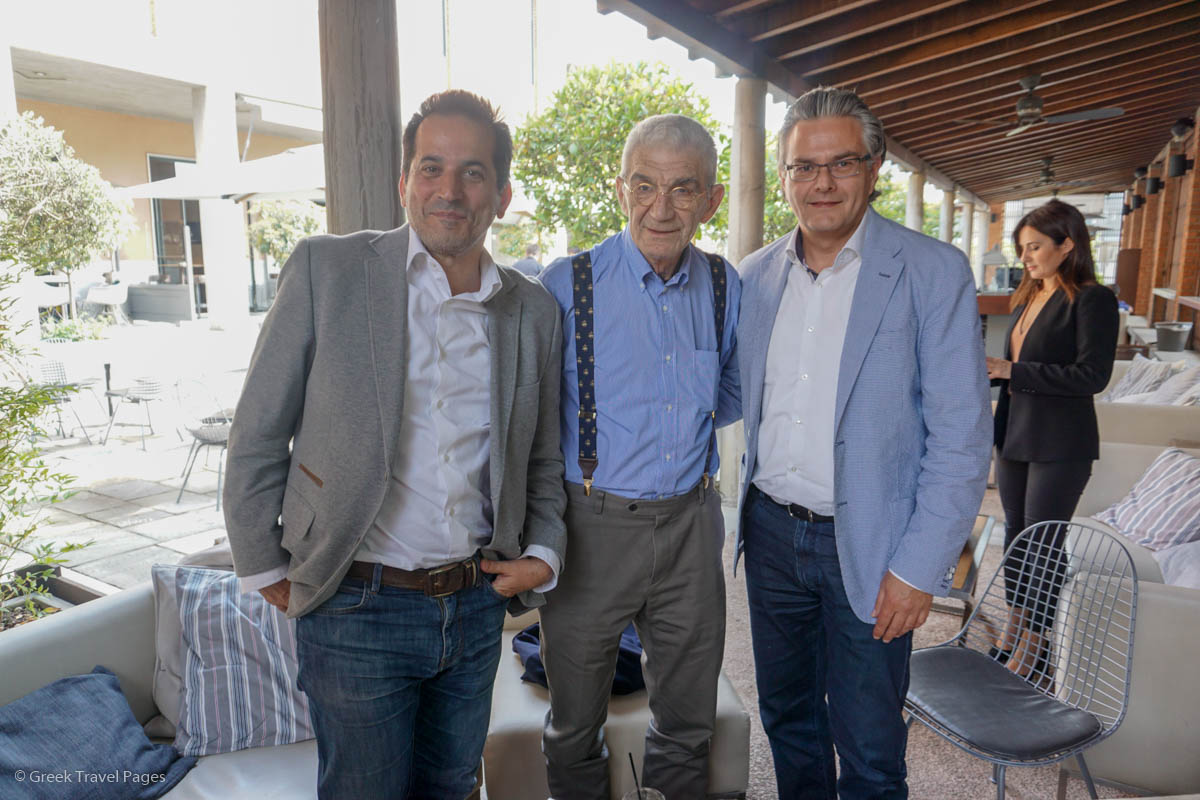 Spiros Pengas, the Deputy Mayor for Tourism and International Relations; Yannis Boutaris, Mayor of Thessaloniki; and Yiannis Aslanis, TCB President.