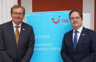 TUI China CEO Dr. Guido Brettschneider and TUI Group Head of Public Policy Frank Puttmann.