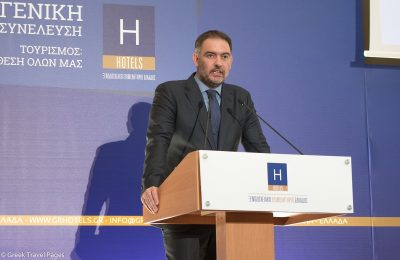 The President of the Hellenic Chamber of Hotels Alexandros Vassilikos. Photo: GTP