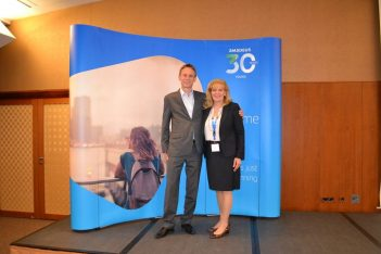 Christian Baillet, Director Airline Account Management Central & Southern Europe and Eva Karamanou, General Manager Greece & Cyprus and Deputy Regional Manager Southern Europe.