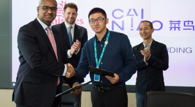 The MoU was signed by Nabil Sultan, Emirates Divisional Senior Vice President, Cargo and Xiaodong Guan, General Manager of Cainiao Global Business at Cainiao's global headquarters in Hangzhou.