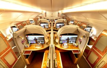 Emirates' First Class private suites.