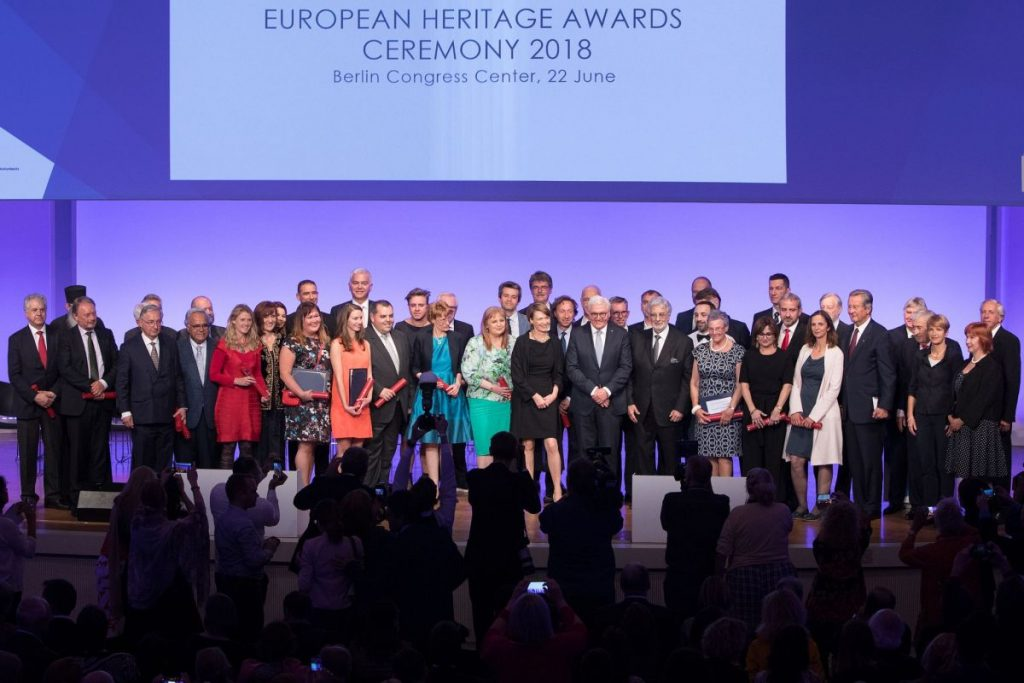 The 29 winners of the Europa Nostra Awards 2018. Photo Credit: Felix Quaedvlieg / Europa Nostra