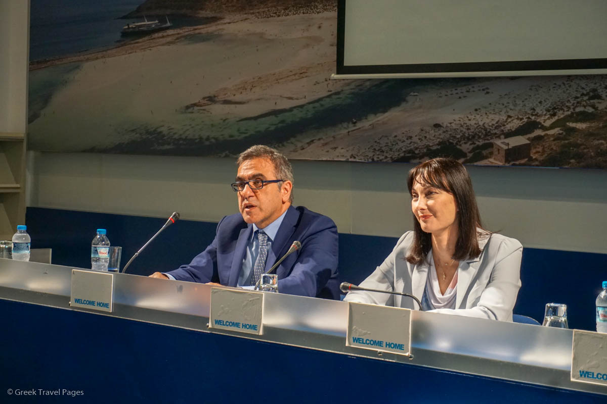 GNTO Secretary General Konstantinos Tsegas and Greek Tourism Minister Elena Kountoura.