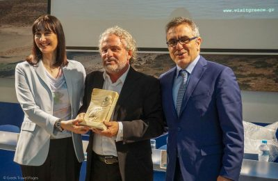 Tourism Minister Elena Kountoura, Greek Director Andonis Theocharis Kioukas and GNTO Secretary General Konstantinos Tsegas.