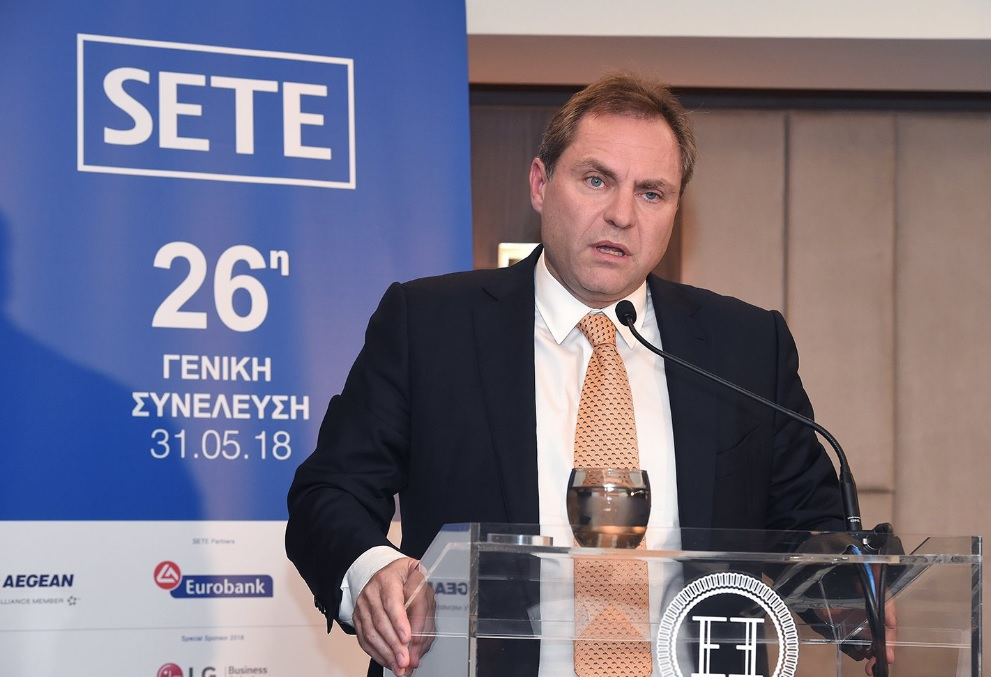 Eftychios Vassilakis, president of national carrier Aegean Airlines.