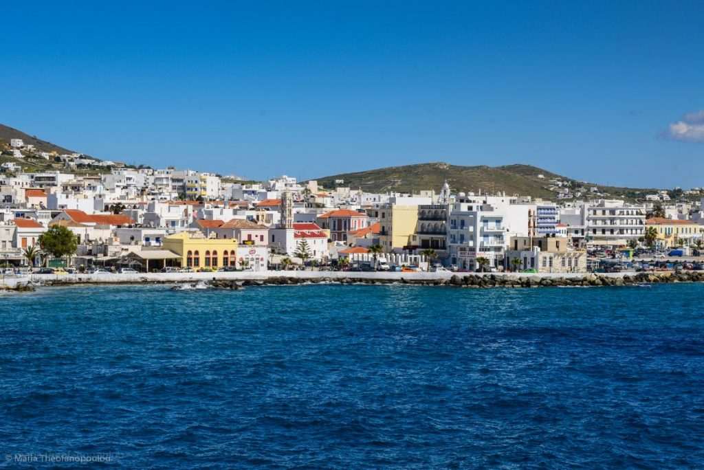 The island of Tinos in the Cyclades is one of the stops of the new ferry route.