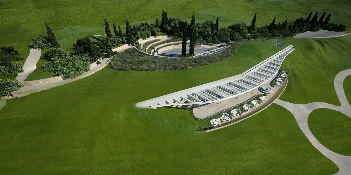 The clubhouse of The Bay Course at Costa Navarino.