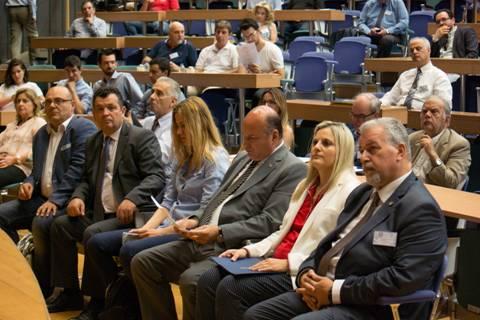 (από αριστερά) Χρήστος Μπουκώρος, Βουλευτής ΝΔ, Τζανέτος Φιλιππάκος, Γ. Γ. Υπουργείου Εσωτερικών, Ευρυδίκη Κουρνέτα, Γ. Γ. Τουρισμού, Αντώνης Ζησιμάτος, Διευθυντής ΥΠΑΠΠΕΔ | πηγή: iForce Επικοινωνίες Α.Ε.