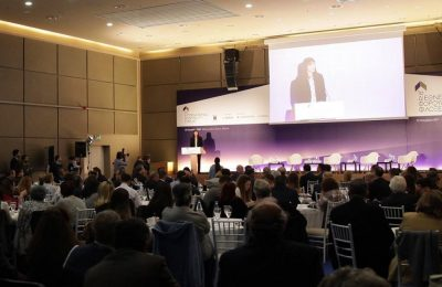 Tourism Minister Elena Kountoura was among the speakers of the 1st Hospitality Forum. Photo Source: Xenia