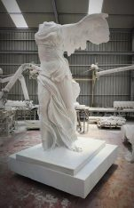 "The replica of ""Nike of Samothrace"". Photo Source: Regional Unit of Evros"