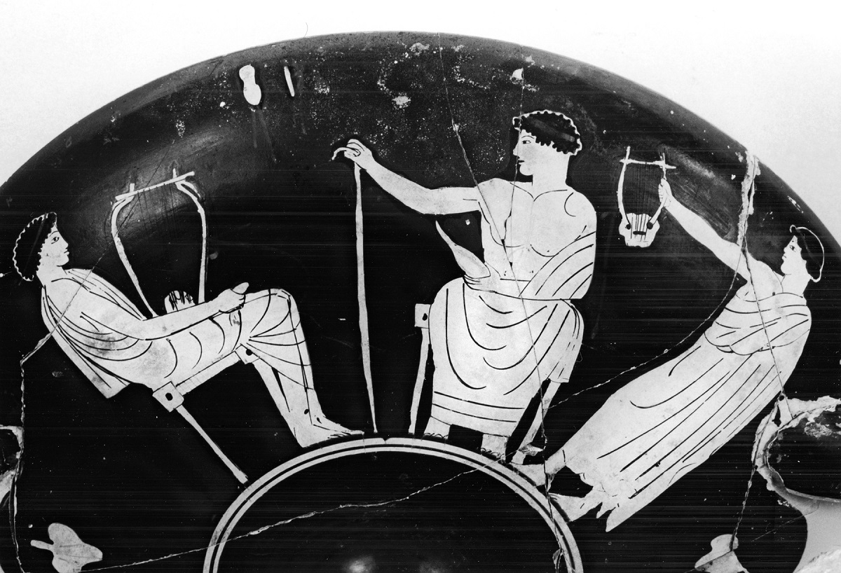 An ancient Greek music lesson