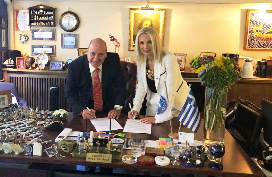 Argo Travel Group director Diamantis Pithis and Karaververis Weddings head Olga Karaververis. Photo Source: @Olga Karaververis