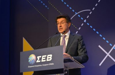 The president of the Hellenic Federation of Enterprises (SEV), Theodros Fessas.