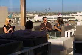 The Star Alliance LAX Lounge terrace