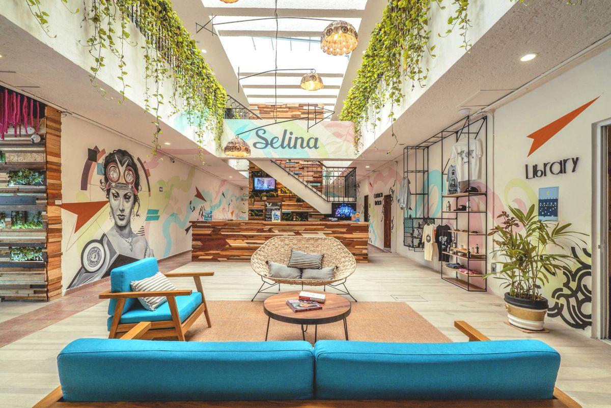 Selina brand hotel in Cancun, Mexico.