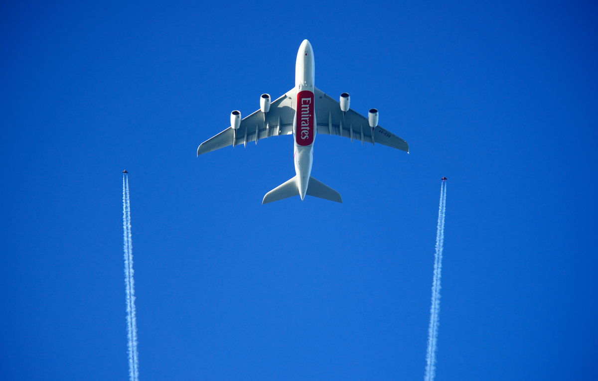 The Emirates A380 has been at the centre of a number of aviation firsts, including the unprecedented formation flight in 2015 with the Jetman Dubai duo.