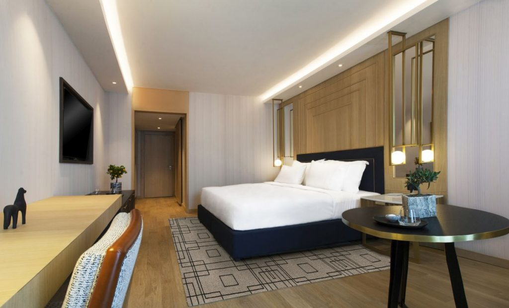 King guestroom in Grand Hyatt Athens.