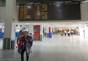 Heraklion Airport, Crete.