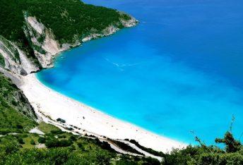 Myrtos beach, Kefallonia. Photo Source: https://kefaloniaisland.org