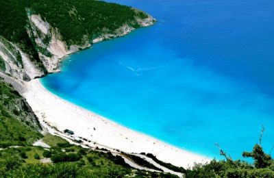 Myrtos beach, Kefallonia. Photo Source: https://kefaloniaisland.org