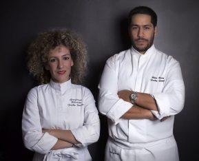 Chefs Georgianna Hiliadaki and Nikos Roussos.