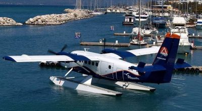 Seaplane in Marina