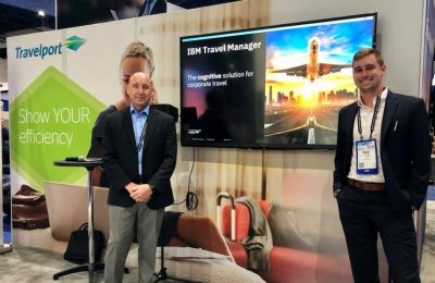 Shawn Busby, Global Category Leader in IBM Procurement Services and Ethan Long, Cognitive Analytics Lead with IBM Travel Procurement, presented IBM Travel Manager at the 2018 convention of the Global Business Travel Association, which took place recently in San Diego, USA.