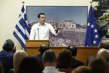 Greek Prime Minister Alexia Tsipras. Photo source @PrimeministerGR