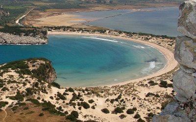 Voidokilia Beach in Messinia, the Peloponnese. Photo source: Pixabay