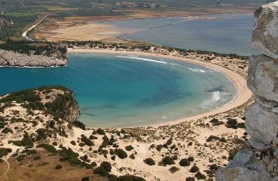 Voidokilia Beach in Messinia, the Peloponnese. Photo source: Pixabay