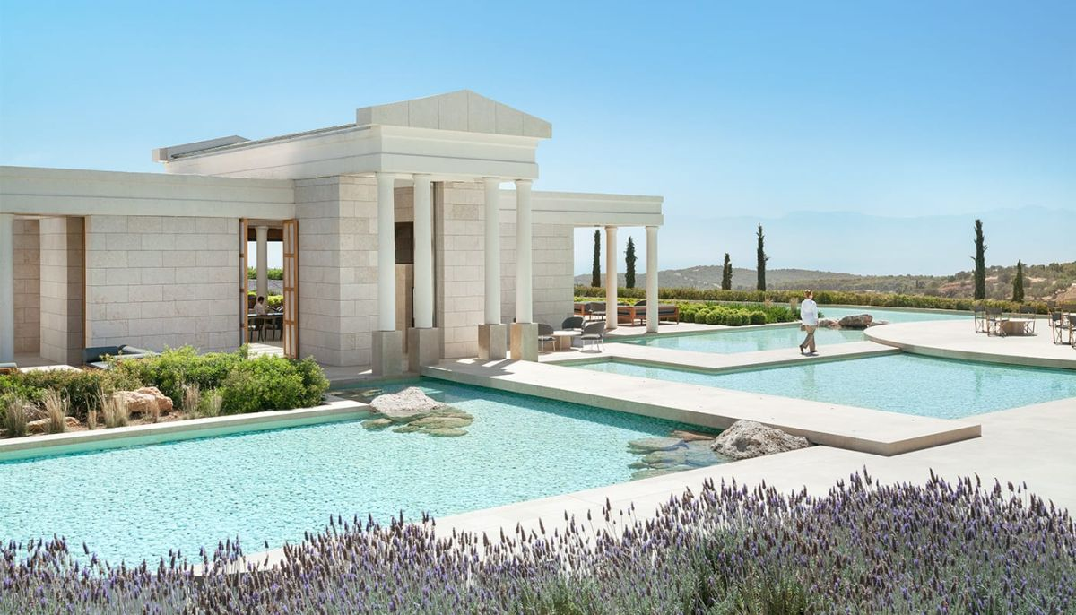The Amanzoe luxury resort in Porto Heli, Peloponnese. Photo © Aman Resorts