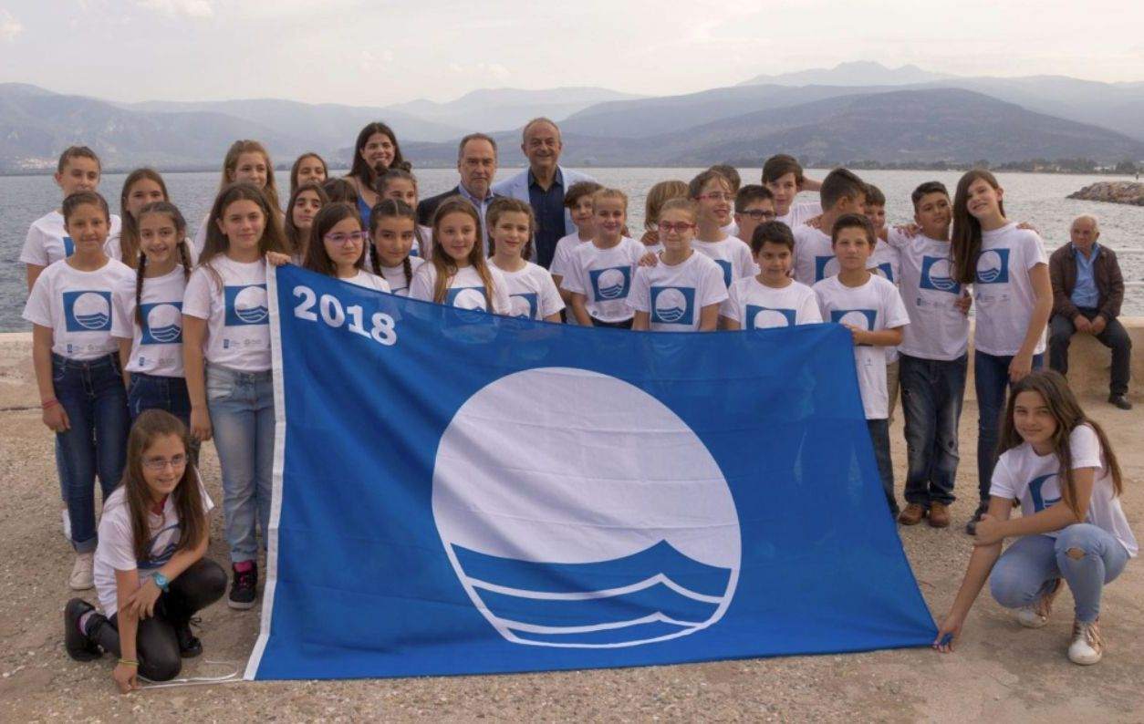 Photo from the 2018 Blue Flag ceremony in May. Source: Hellenic Society for the Protection of Nature (EEPF)