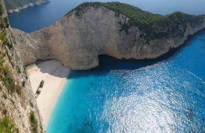 Navagio beach, Zakynthos island. Photo Source: Municipality of Zakynthos (archive photo)