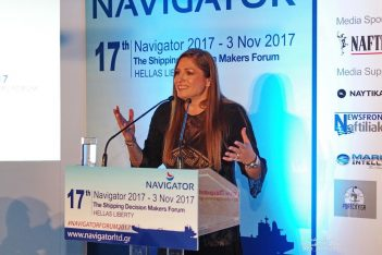 Danae Bezantakou, CEO of Navigator Shipping Consultants.
