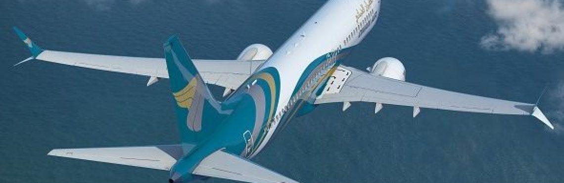 Oman Air Boeing 737 MAX aircraft.