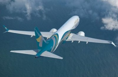 Oman Air Boeing 737 MAX aircraft.