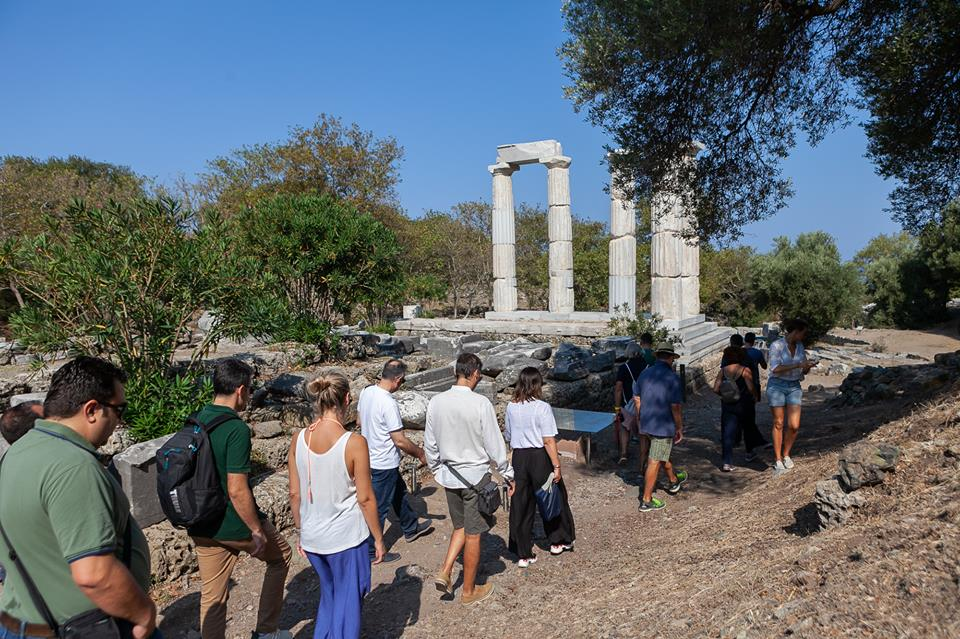 Visit to the Sanctuary of the Great Gods on Samothraki on the sidelines of the 1st Samothraki Open Forum.